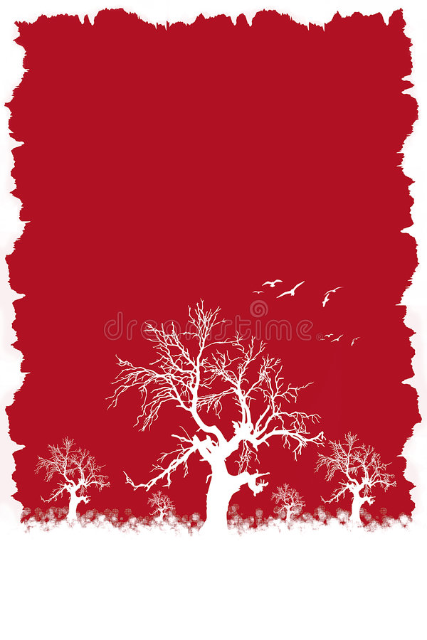Winter red royalty free illustration