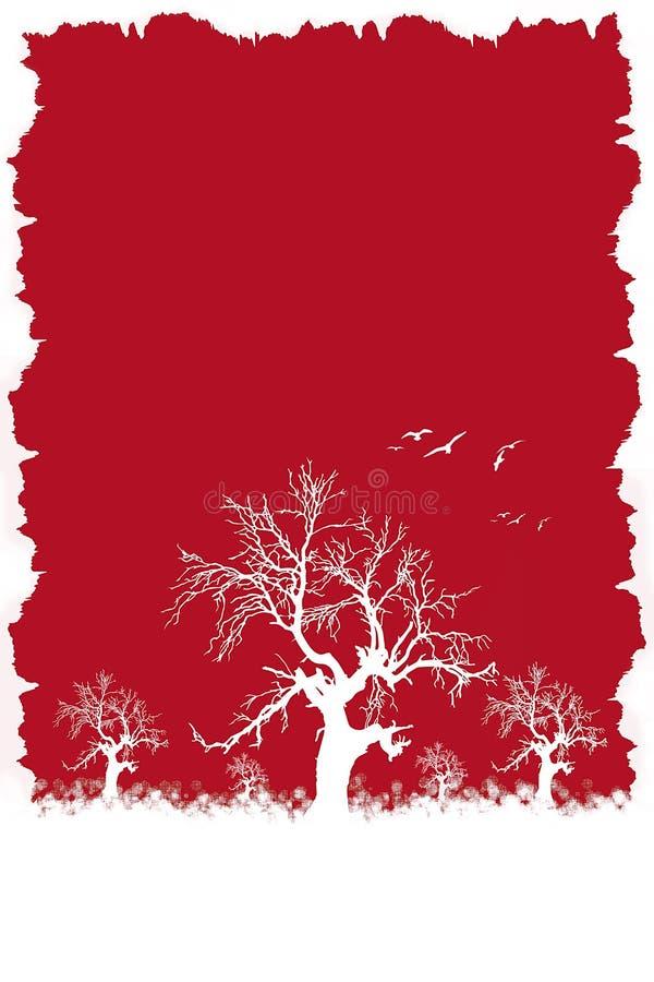 Winter red. Winter scene illustration royalty free illustration