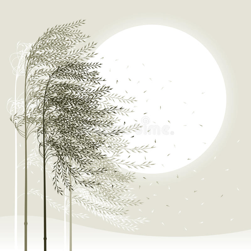Winter reed background stock illustration