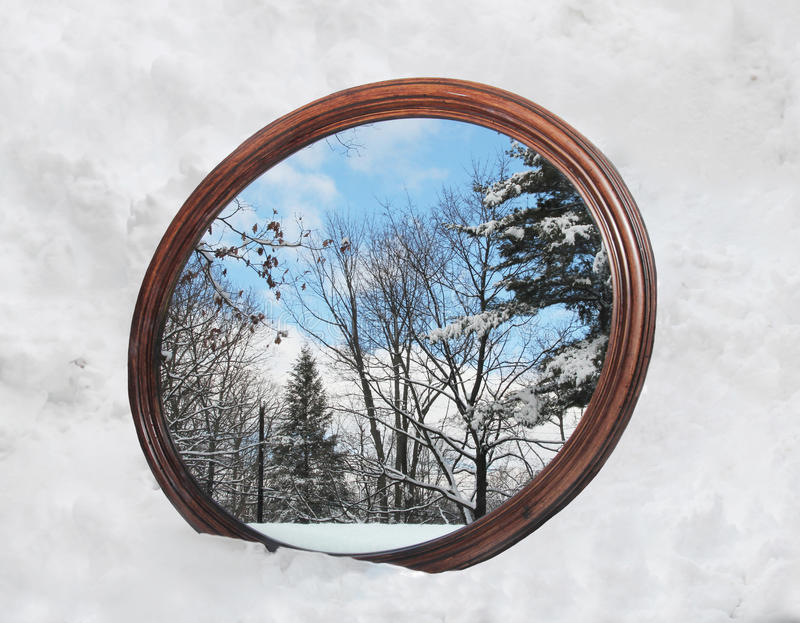 Download Winter Reflection stock image. Image of mirror, cold - 18091671