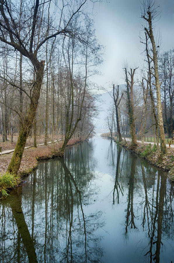 Winter Reflection royalty free stock photography
