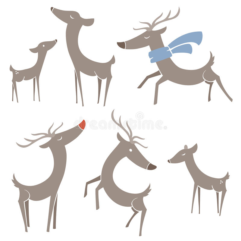 Download Winter Reindeer stock vector. Image of leaping, christmas - 16625977