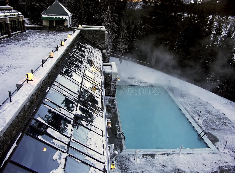 Download Winter resort stock image. Image of pool, swimming, white - 14286889