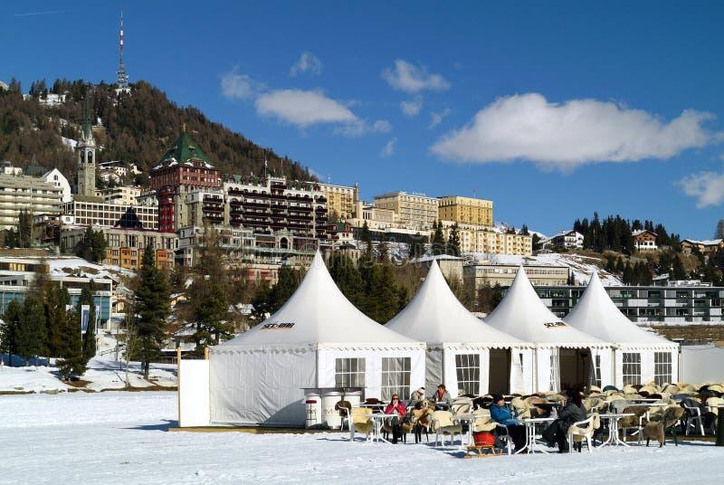 Winter Restaurant royalty free stock photography