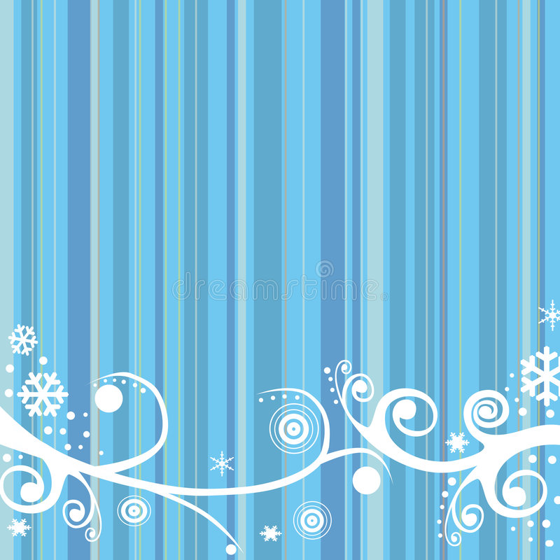 winter retro background vector illustration