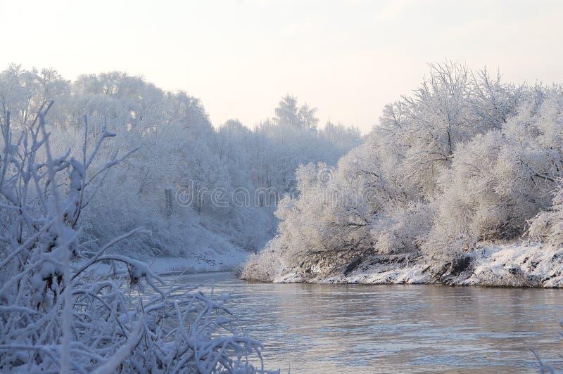 The winter river.