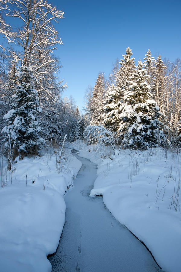 Download Winter river stock image. Image of countryside, landscape - 26854137