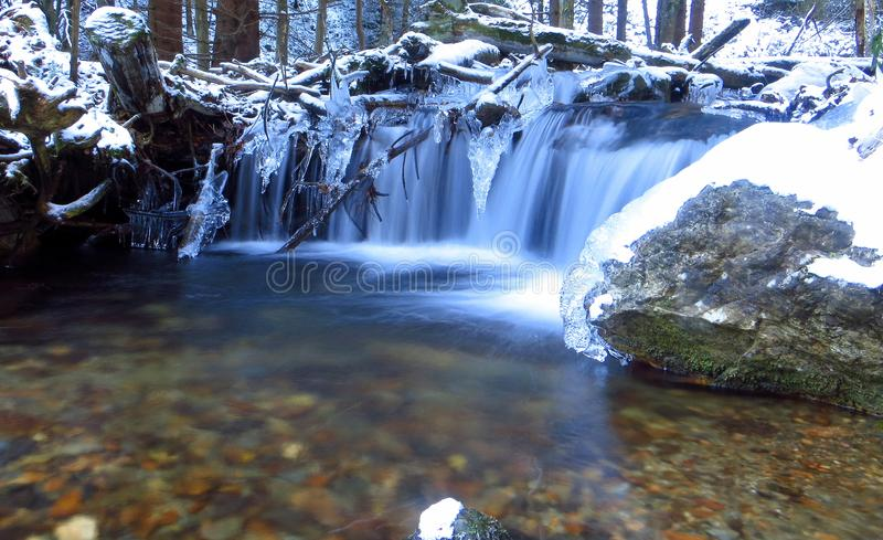 Download Winter in the forest... stock photo. Image of river - 106957432