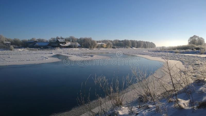 Download Winter River Stock Photo - Image: 83703628