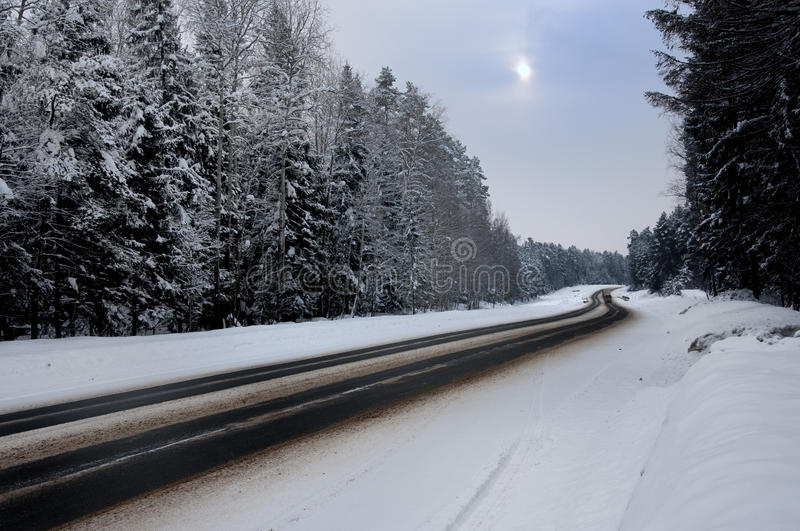 Download Winter Road Stock Photography - Image: 19373662