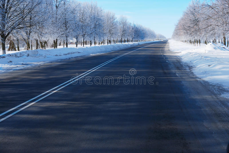 Download Winter road stock photo. Image of white, bright, snow - 20111040