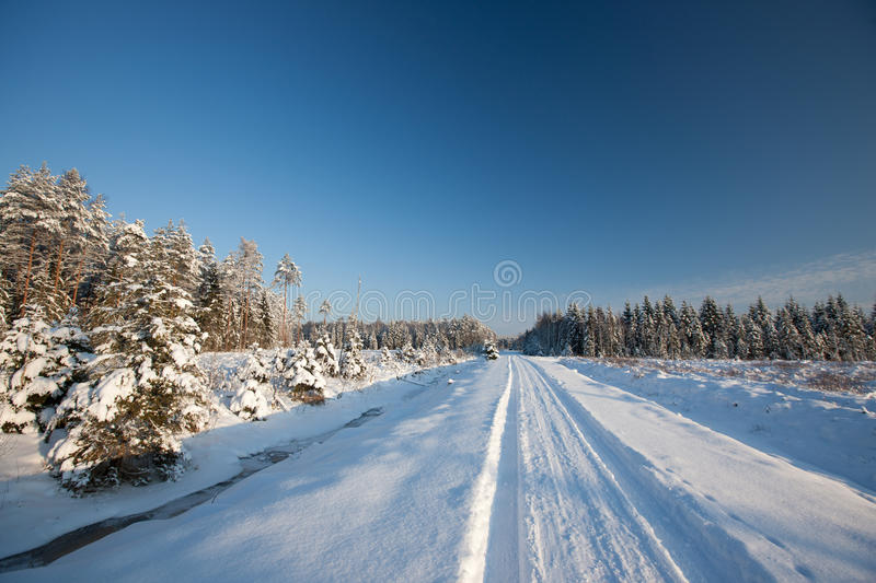 Download Winter road stock image. Image of country, cool, snow - 27965941