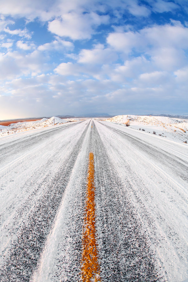 Download Winter road stock photo. Image of wyoming, landscape, blue - 3428638