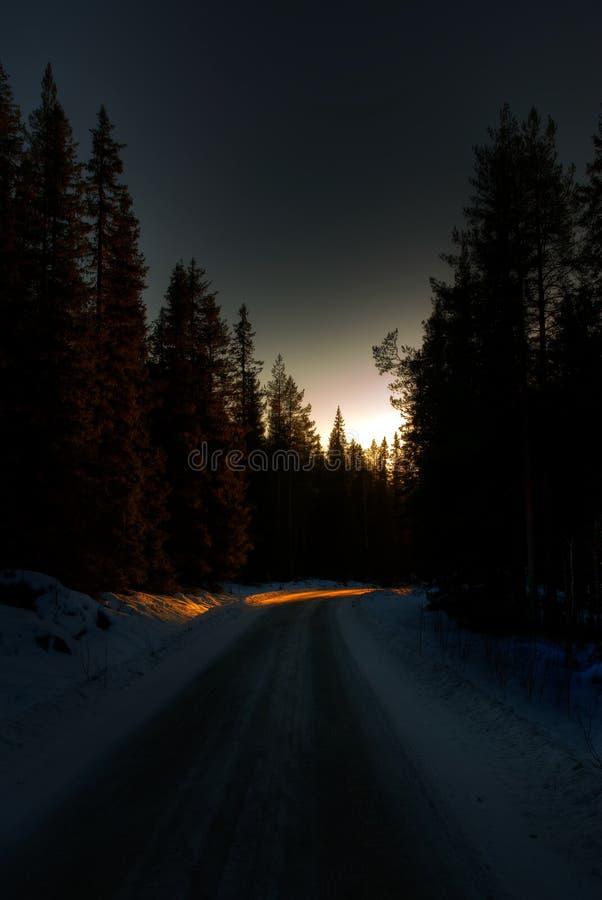Winter road royalty free stock photos