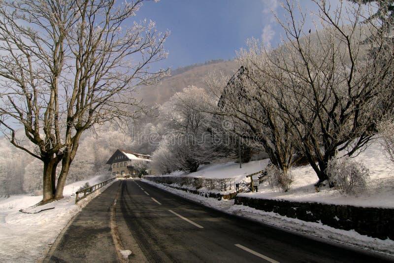 Download Winter Road stock image. Image of lichtenstein, january - 451939