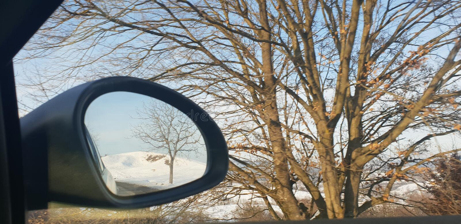 Winter road in early 2019 from cluj county to timisoara city highway  and rural road. Winter road early 2019 clun cluj county timisoara city highway rural royalty free stock photography