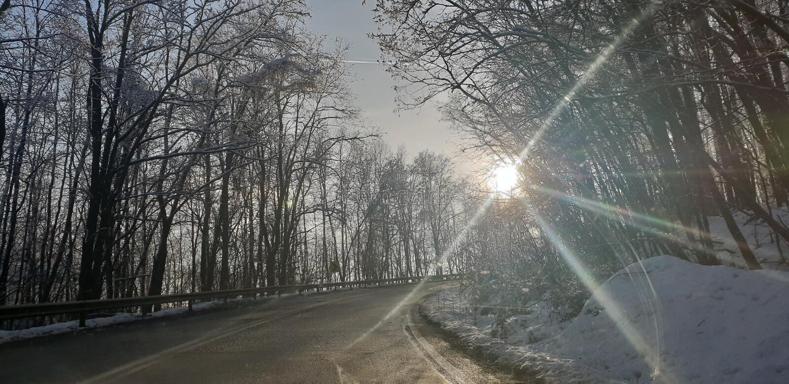 Winter road in early 2019 from cluj county to timisoara city highway  and rural road. Winter road early 2019 clun cluj county timisoara city highway stock photography