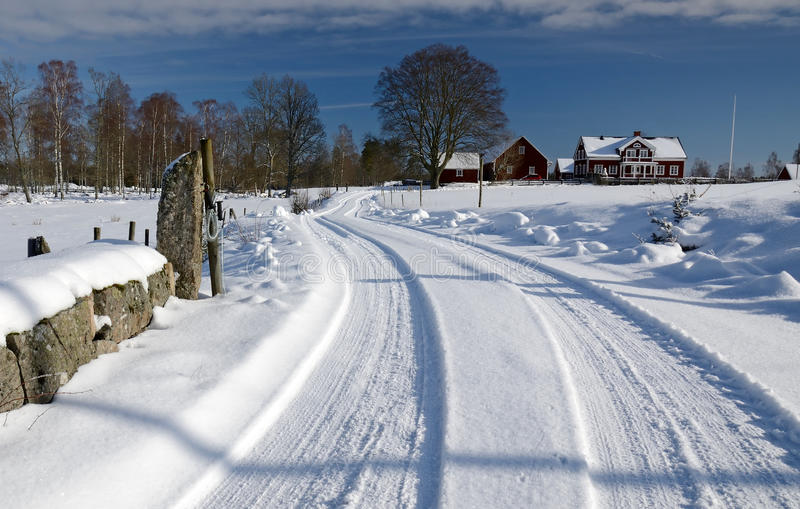 Download Winter Road Home Royalty Free Stock Image - Image: 23375866