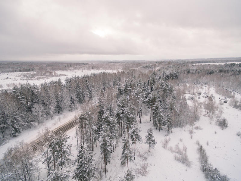 Winter road. Russia, near Moscow royalty free stock images