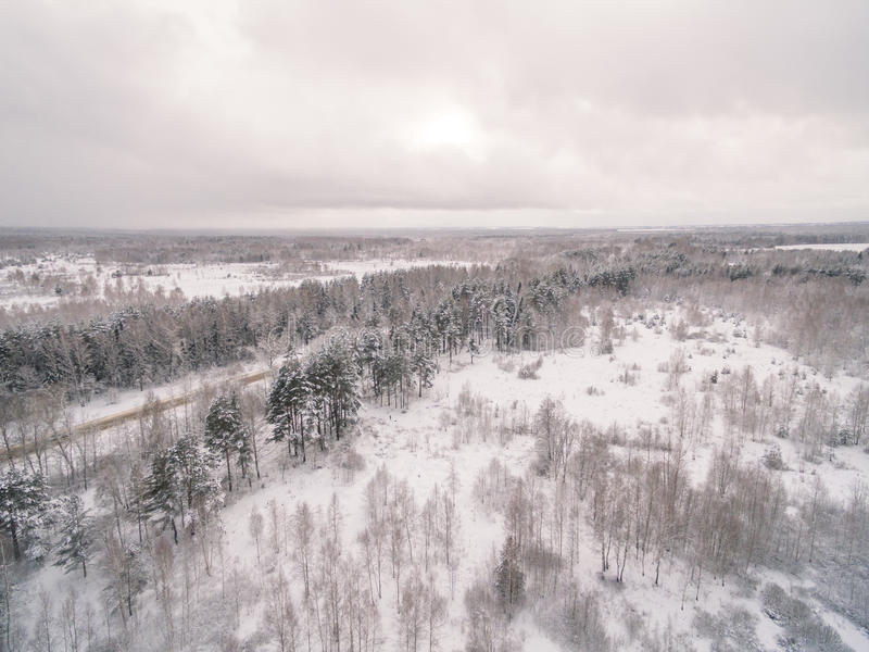 Winter road. Russia, near Moscow stock image