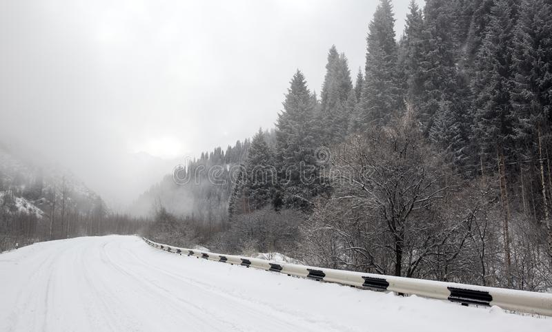 Winter road. stock image