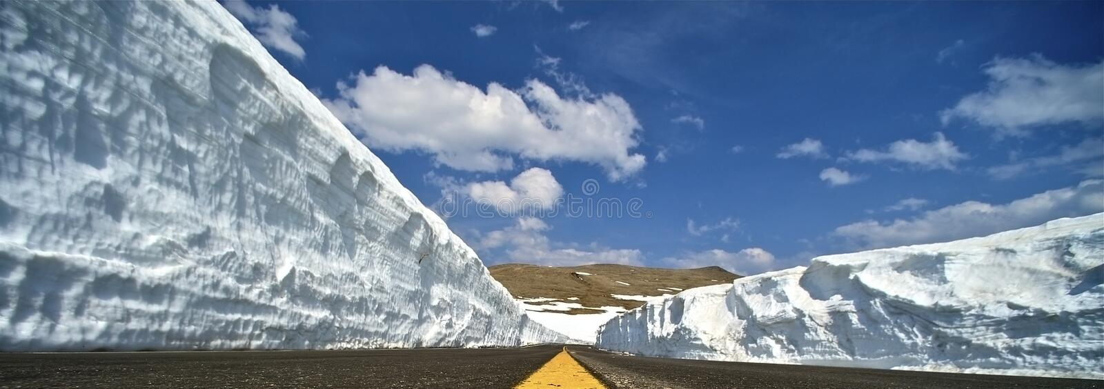 Winter Road Snow Slopes stock images
