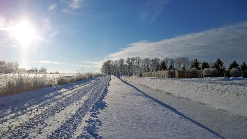 Download Winter Road. Winter Landscape. Stock Photo - Image of rime, forest: 83702834