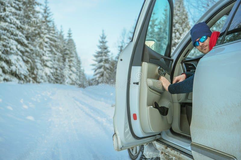 Winter Road Trip stock photo
