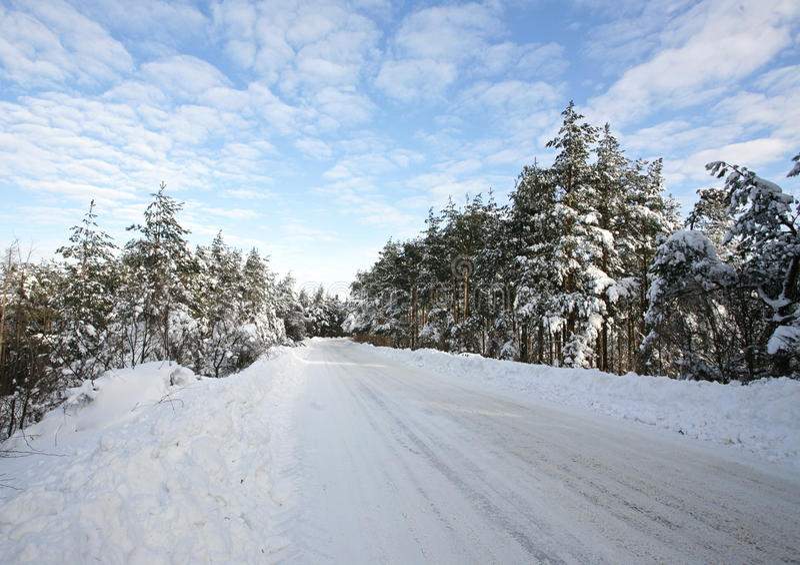 Winter roud stock photo