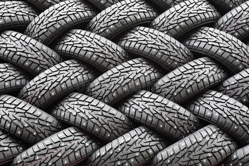 Download Winter Rubber Wheels With Torns Stock Image - Image: 11726113