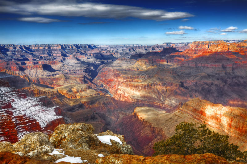 Winter, Südkante, Nationalpark Grand Canyon s, Arizona lizenzfreies stockfoto