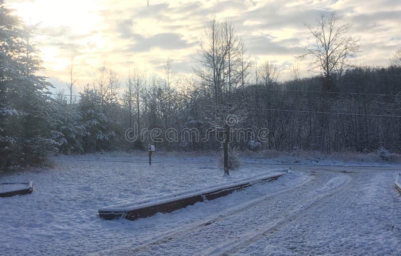 Winter& x27 ; s au revoir photographie stock
