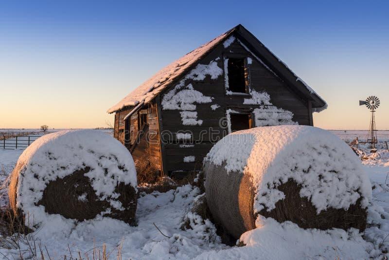 Winter ` s erstes Licht lizenzfreies stockfoto