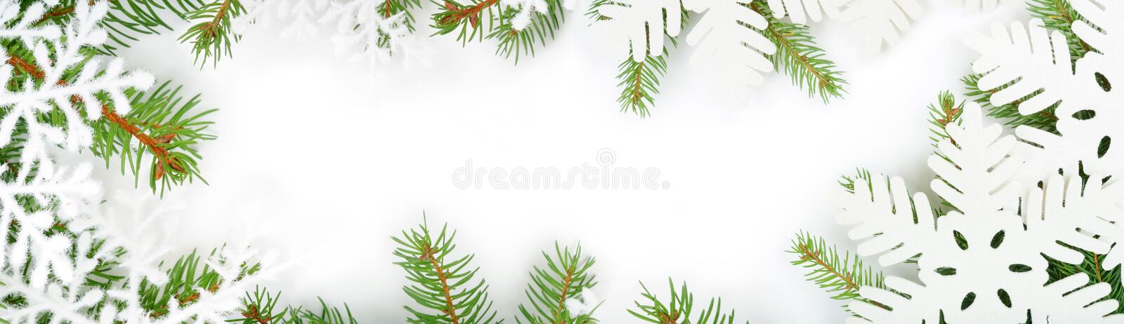 Winter's frame stock photography