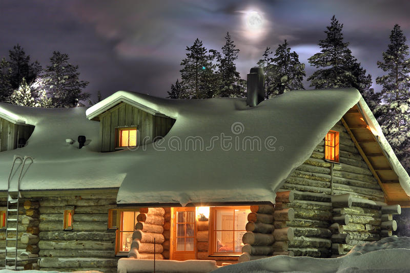 Winter's night stock image