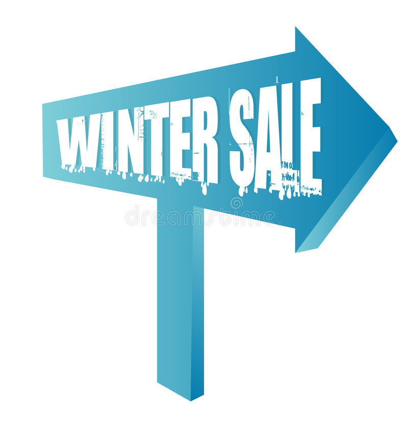Winter sale sign royalty free illustration