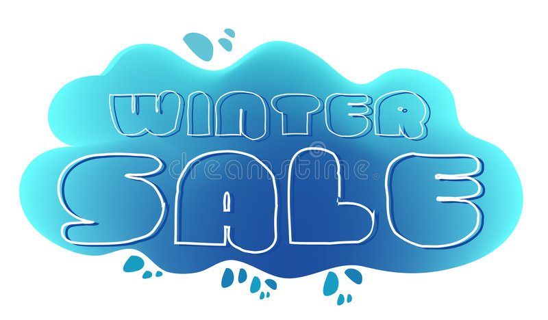 Winter sale logo vector illustration