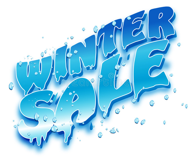 Winter Sale royalty free illustration