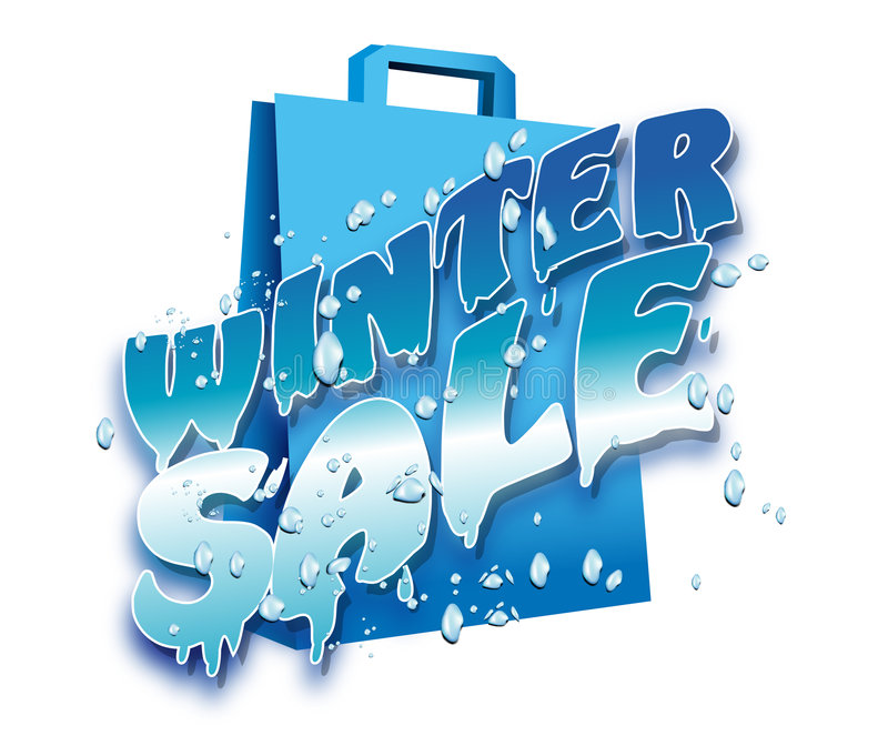 Illustration of Winter sale logo vector illustration