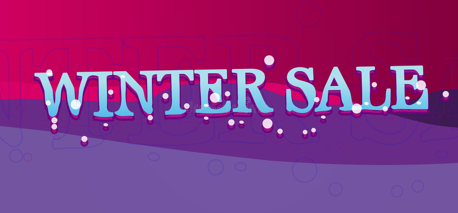 Download Winter Sale Banner stock photo. Image of purple, snow - 24845358