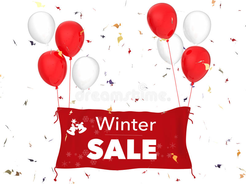 Winter sale banner royalty free stock images