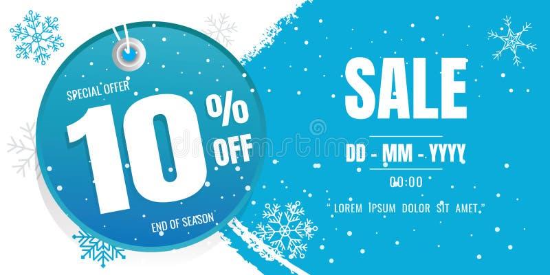 Winter sale banner template design. snow flake. Ice Crystals. se vector illustration