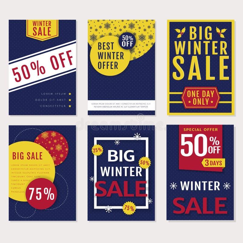 Winter sale banners. Vector set. vector illustration