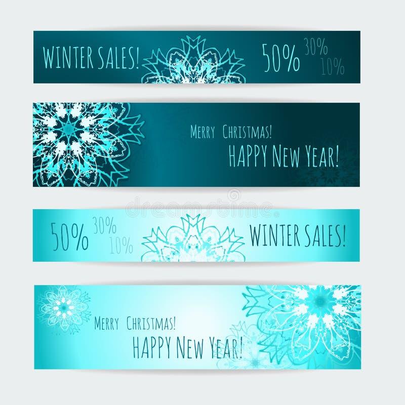 Winter Sale Christmas Design Vector Web Template Stock Vector - Web templates for sale