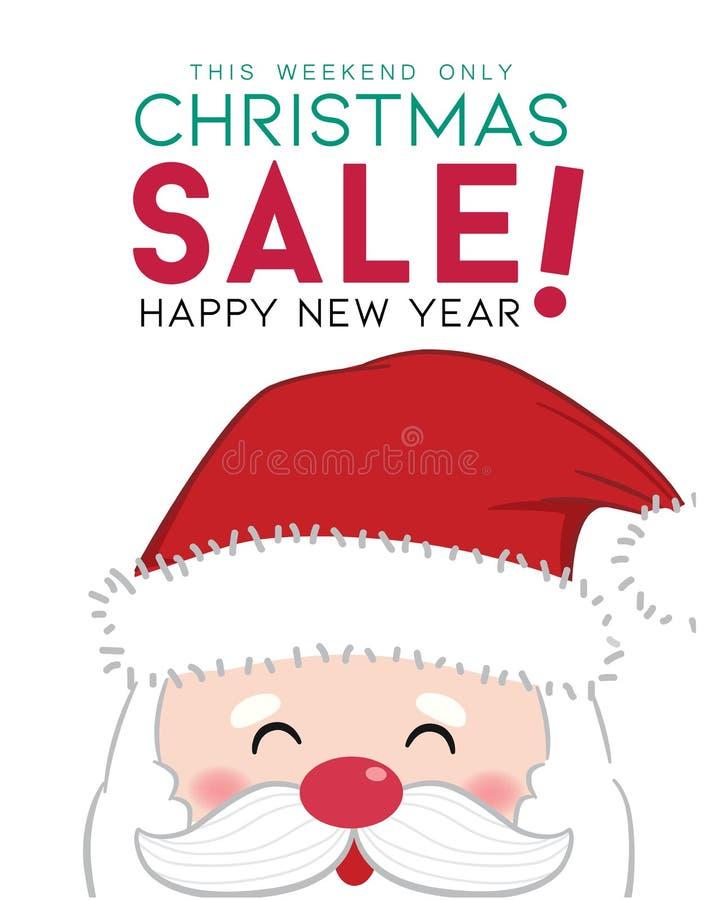 Winter sale design with Santa claus stock photos