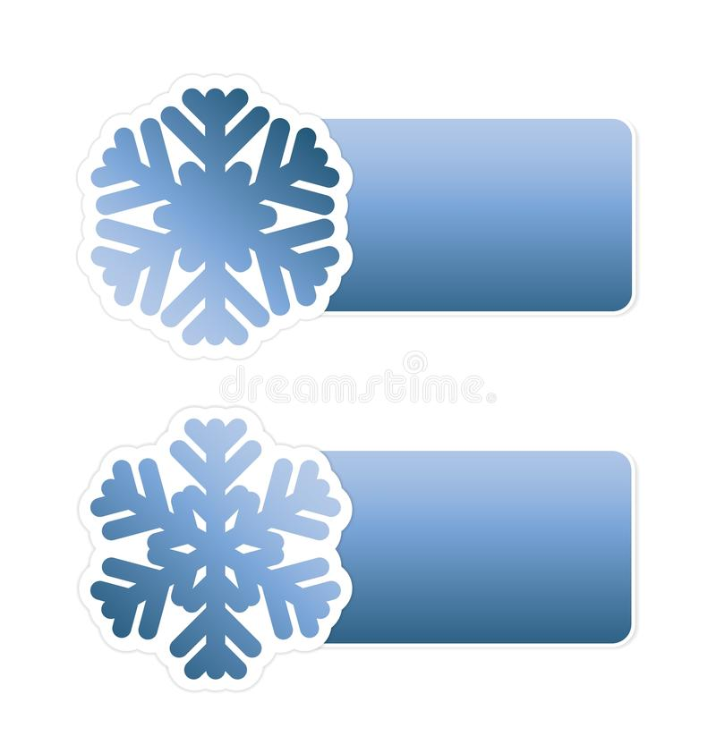 Download Winter Sale Labels With Snowflake Stock Illustration - Image: 27447712