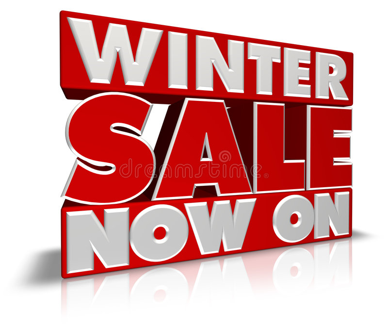 Download Winter Sale Now On stock illustration. Image of bargain - 7848371