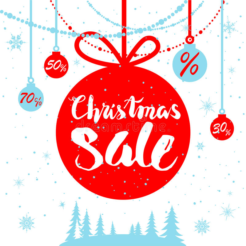 Winter sale poster. Big Christmas sale. Seasonal sale background for banners, advertising, leaflet, cards, invitation and so on royalty free illustration