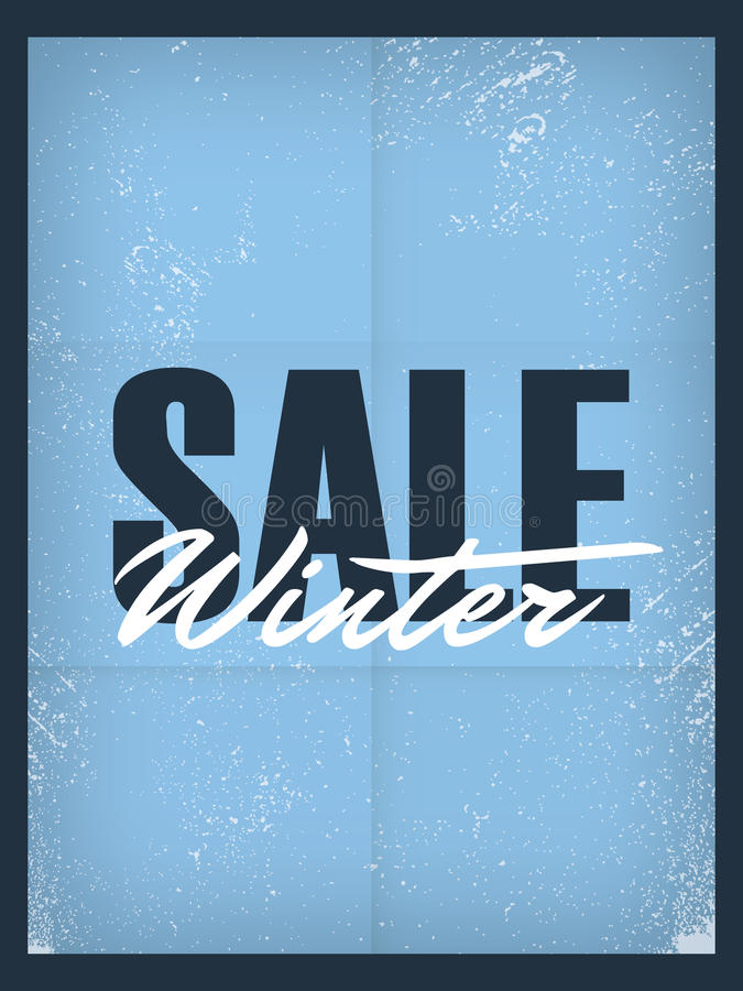 Download Winter Sale Poster Template. Discounts And Special Stock Vector    Illustration: 62497521  For Sale Poster Template