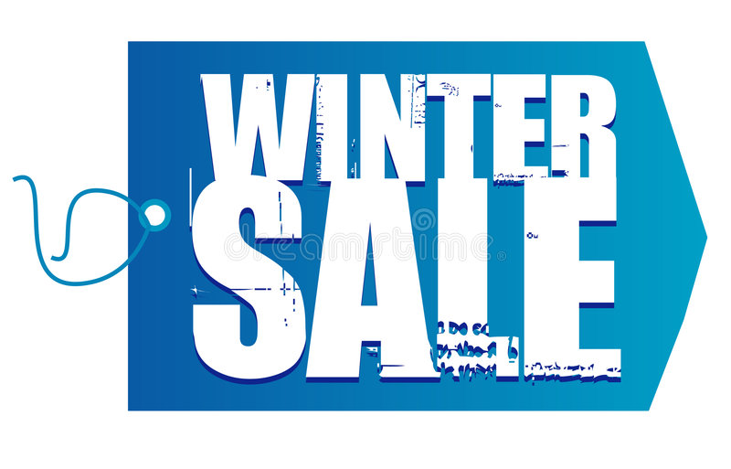 Winter sale tag logo royalty free illustration